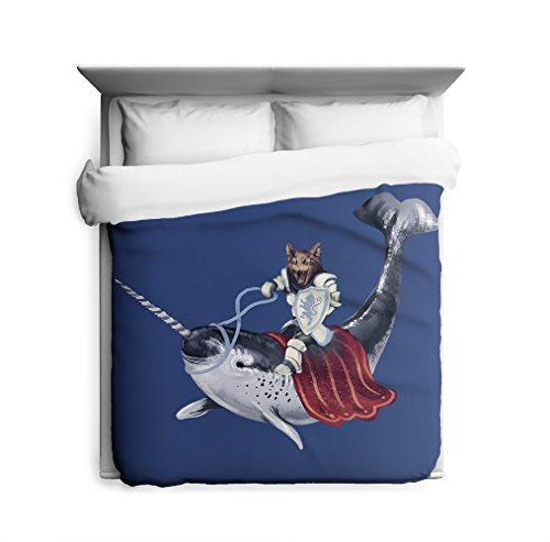 Cat Riding Narwhal Nautical Bedding Urban Outfitters Duvet Cover