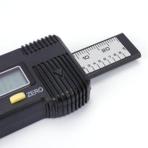 H88 Digital Tire Tread Depth Gauge Meter Measurer LCD Display Tyre Tread Brake Shoe Pad Wear Tire Tester Tread Checker for Cars Trucks SUV black 0-25mm by H88 (Image #8)