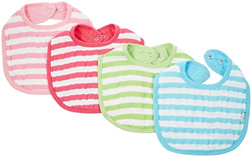 green sprouts by i play. Muslin Bibs Made From Organic Cotton, Pink/Aqua, 0-12 Months, 2 Pack
