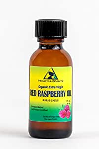 Red Raspberry Seed Oil Organic Unrefined Extra Virgin Cold Pressed Pure 1 oz in Glass Bottle