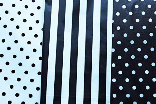 Black and White Gift Wrap Tissue Paper for All Occasions. 36-Pack Includes 24 Polka Dot Plus 12 Striped Premium Quality, Large 20 x 30 Squares. Black & White ()