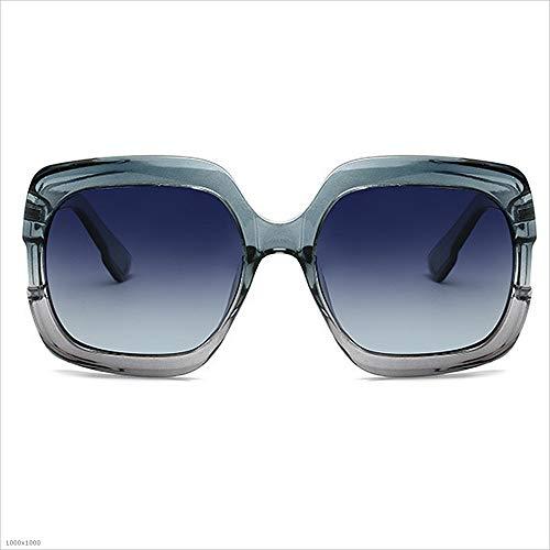 Azul Viajar gradiente de de de 100 la del Color Sol del para acanaladas del Ultravioleta Sol Conducir Sol Gafas señora de Protección Gafas Gafas UV Marco Sumferkyh protección Polarizado clásicas de S8qA7