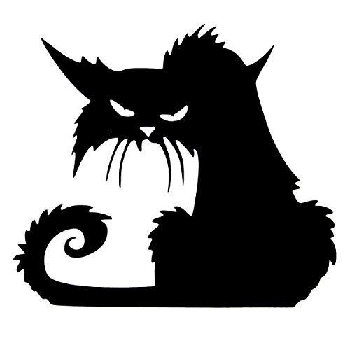 BoatShop Halloween Scary Black Cat Glass Sticker Halloween (Scary Cat Ideas For Halloween)