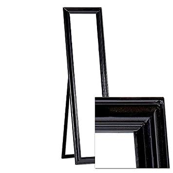 Miroir Sur Pied 45 X 170 Cm Noir Style Antique Avec Fonction Support