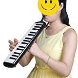 Glarry 32 Key Melodica Musical Instrument for Music Lovers Gift with Two mouthpieces and Carrying Bag