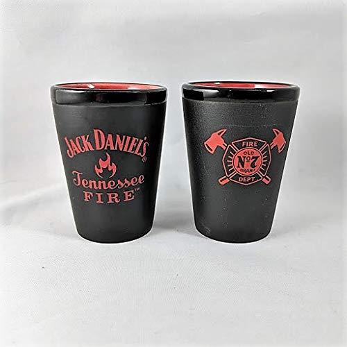 Jack Daniel's Tennessee Fire Ceramic Shot Glass Set - Set of 2