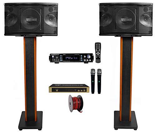 Rockville Bluetooth Karaoke Machine System-(2) Speakers+36