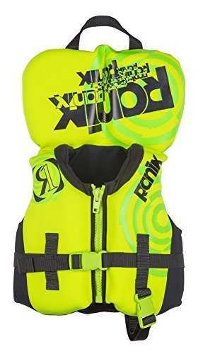 Front Vest Zip (Ronix 2018 Vision Boy's Front Zip CGA Vest Toddler (Lime/Yellow) Kid's Life Jacket)