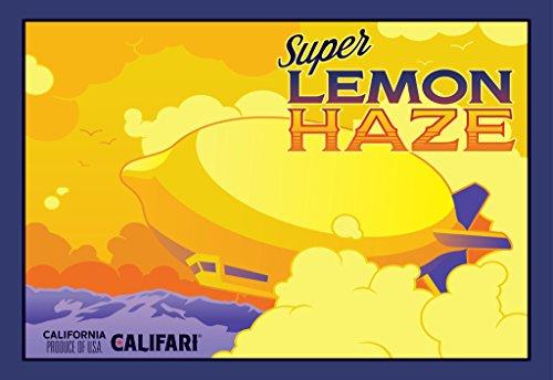 Califari Super Lemon Haze - Full Color Strain Art Poster, Decor for a Home, Dispensary, or Smoke Shop - 13