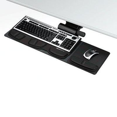 Wholesale CASE of 2 - Fellowes Professional Compact Keyboard Tray-Compact Keyboard Tray,Std,Track Lgth 17-3/4'',19''x9-1/2'',BK by FEL