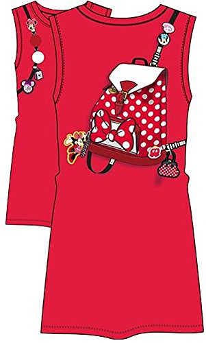 Price comparison product image Disney Youth Minnie Backpack Trompe l'oeil Dress, Red (Large)