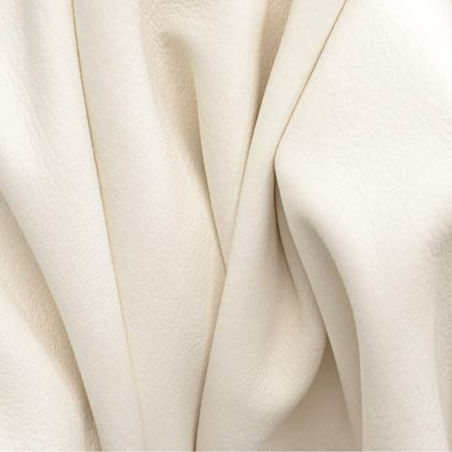 (The Leather Guy - Leather New Zealand Deerskin Hide 12.1 SF 1 1/2-2 oz Seashell White Flat Grain-Q)