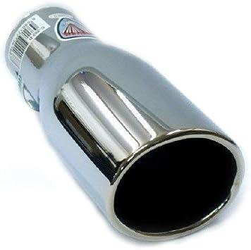 Boloromo 0043 Doppelendrohr Auspuffblende Edelstahl Auspuffblende Chrom Universal