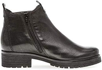 Gabor Femme Bottines, Dame Chelsea Boot, Bottes,Bottines,Bottillon,enfilez des Bottes,Haut,Schwarz (Micro),39 EU / 6 UK