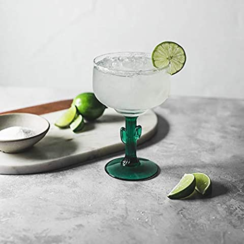 Cactus Margarita Glasses, Set of 4