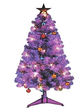 fully decorated 3ft 4ft purple christmas tree - Purple Christmas Tree