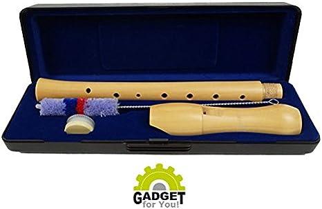 Cadena de madera de arce Flauta en Juego con estuche, cepillo y grasa: Amazon.es: Instrumentos musicales