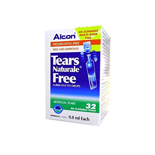 ALCON Tears Naturale Free Lubricant Eye Drops 32 reclosable vails 0.8ml -