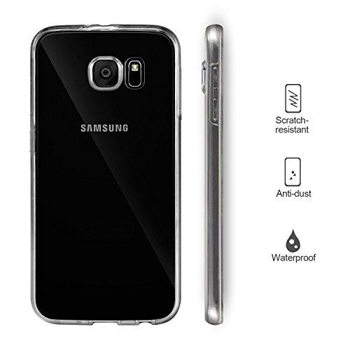 Galaxy S6 Funda, Leathlux Cover Galaxy S6 Gel Silicona Carcasa Transparente TPU full Protección Delanteros y Traseros Case para Samsung Galaxy S6 G920 5.1