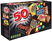 MARS ASSORTED Chocolate Halloween Candy Bars, Variety Pack, 50 count