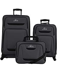 Skyway Glacier Peak 3 Piece Spinner Travel Set, Black, One Size