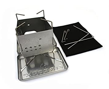 Firebox Stainless Steel Nano Stove G2 X-Case Kit – Wood Burning Multi Fuel – Folding Camp Bushcraft