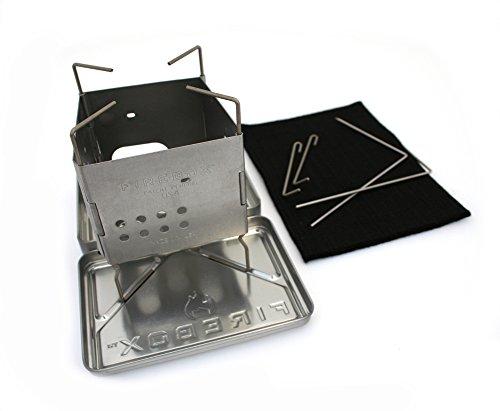 Firebox Stainless Steel Nano Stove G2 + X-Case Kit - Wood Burning/Multi Fuel - Folding Camp/Bushcraft by Firebox