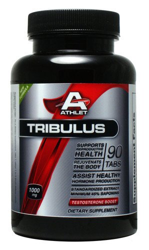 ATHLET TRIBULUS 1000 MG 90 TABS TEST TESTOSTERONE LIBIDO BOOSTER 45% SAPONIN