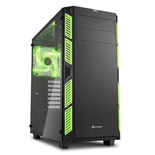 Sharkoon AI7000 Glass ATX MIDI Tower Case - Green