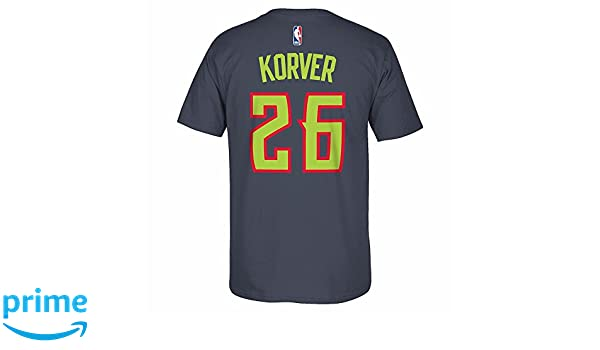08fbac32d Amazon.com   Kyle Korver Atlanta Hawks NBA Adidas Grey Player Name   Number  Team Jersey T-Shirt For Men   Sports   Outdoors