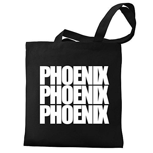 Phoenix Eddany Eddany Tote three Phoenix Canvas Bag words qgfaEf