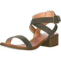 Top Moda Women's Vision-75 Ankle Strap Open Toe Heeled Sandal
