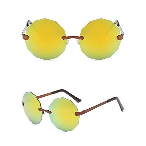 Masculinas Color De Retro Sol Gafas 2018 Nuevas Verde Naranja WANGXIAOLIN fvXPqP