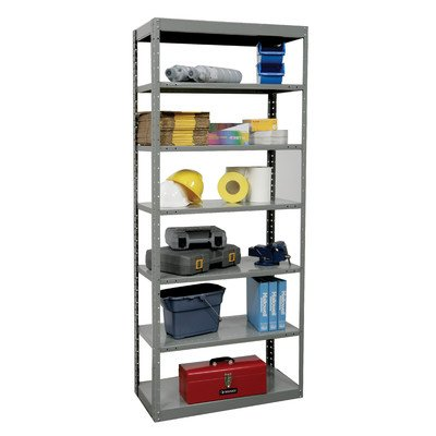 87 in. High 7-Tier DuraTech Pass-Through Steel Shelf in Gray (36 in. W x 12 in. D x 87 in. H) by Hallowell