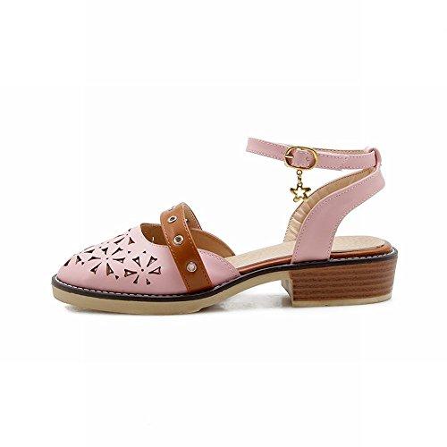 Sandalo Cinturino E Caviglia Caviglia Colore Carolbar Alla Con Modello Rosa SrBwOS