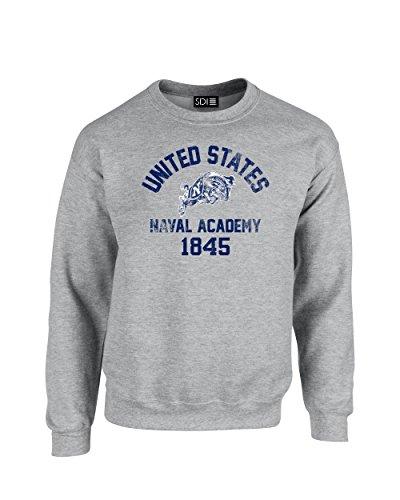 - NCAA Navy Midshipmen Mascot Block Arch Crew Neck Sweatshirt, X-Large, Sport Grey