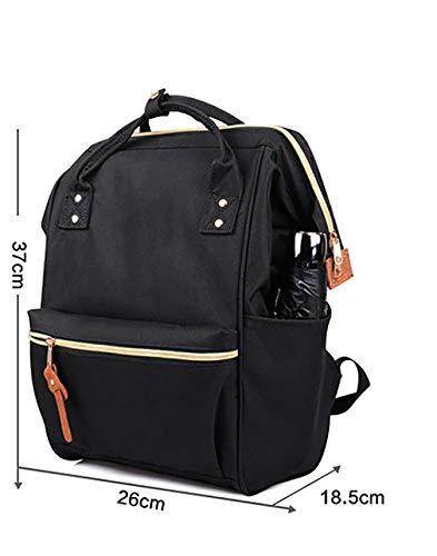 Escuela 26 Negro Mujeres Negro 5 37cm La Estudiante Paño Del Metro color Y Oxford Tamaño Casual Bolso 18 Hombres De Viaje Mochila AqwIO1O