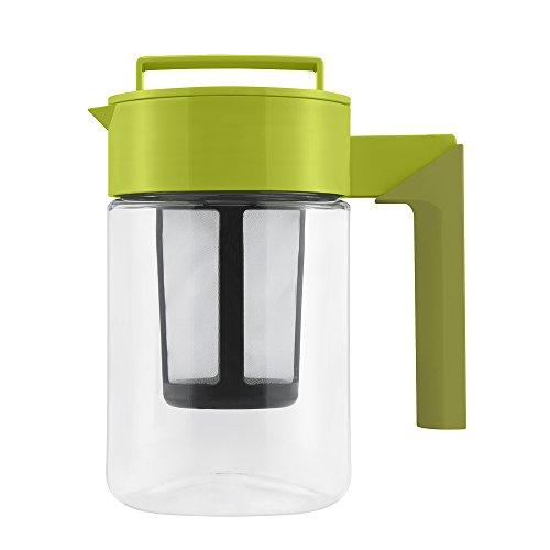 Takeya Tea Maker with Silicone Handle, 24-Ounce, Avocado/Olive