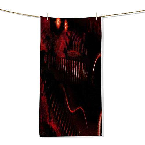 (MakeHappy Custom Towels Bathroom FNAF FNAF Nightmare Animatronics Foxy 27x12 inch Custom Micro Velour Towel,Gift for Friends and Family )