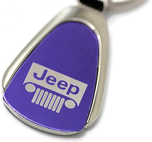 DanteGTS Jeep Grill Logo Purple Tear Drop Key Chain 5559032194