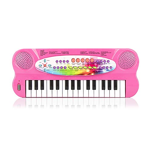 aPerfectLife 32 Keys Piano Keyboard for Kids Multifunction Portable Piano Electronic Keyboard Music Instrument for Kids Early Learning Educational Toy for 3-7 Year Old Girls Boys (Pink)