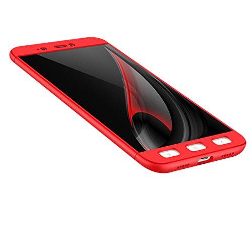 Xiaomi Redmi Note 4X Caso, Vandot de 360 Grados Alrededor de Todo el Cuerpo Completo de Protección Ultra Thin Slim Fit Cubierta de la Caja de Mate PC Absorción de impactos Shockproof para Xiaomi Redmi PC QBHD-2