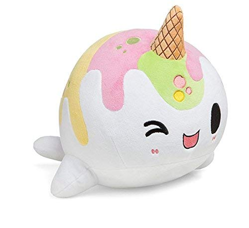 ThinkGeek Ice Cream Nomwhal - Large Rainbow Sherbet Narwhal Plush!]()