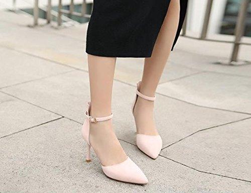 Moda Donne 8cm suggerimento scarpe Donna luce AJUNR alti Da esposto rosa 34 Alla tacchi Sandali 1wPnIXFqH