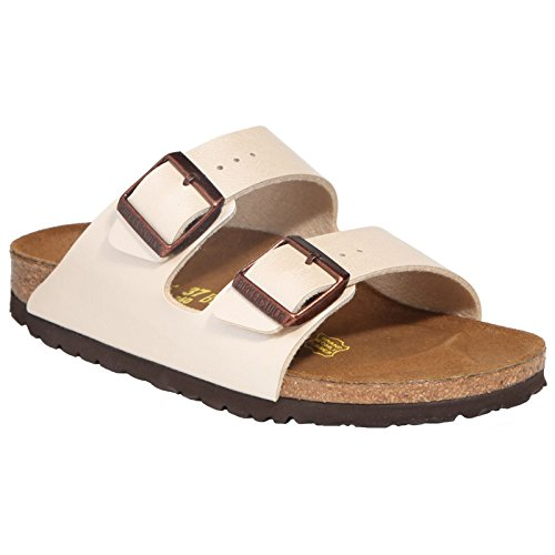 Birkenstock Womens Arizona Graceful Pearl White Birko-Flor Sandals 39 EU by Birkenstock (Image #3)