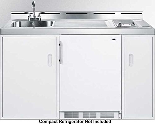 Summit C60ELGLASS Kitchen All in One Combination Unit, White