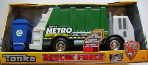 Tonka Rescue Force, Lights and Sounds. Garbage Truck (Metro Department of Sanitation) (Trash Can Trolls compare prices)