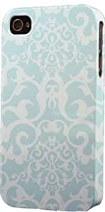 Light Blue Damask Pattern Dimensional Case Fits Apple iPhone 5 or iPhone 5s by Maris's Diary