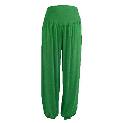 Modal NINGSANJIN Yoga Haute Pantalons Pants Pyjamas Lanternes Taille Jambes Laches Loose Femmes Grande Vert Yoga lastiques Confortable Pantalons Casuel Larges Occasionnels Sports Coton 7rIrfqH