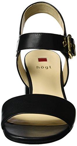 Högl 3-10 5520 0100, Sandalias con Cuña para Mujer Negro (schwarz0100)